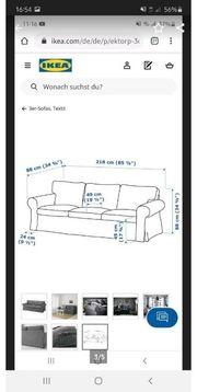 2mal 3er Sofa von Ikea