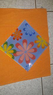 Deko Teller Blütenmotiv Frühling Sommer