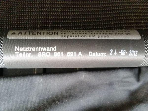 Audi Q5 8R Gepäcknetzabtrennung