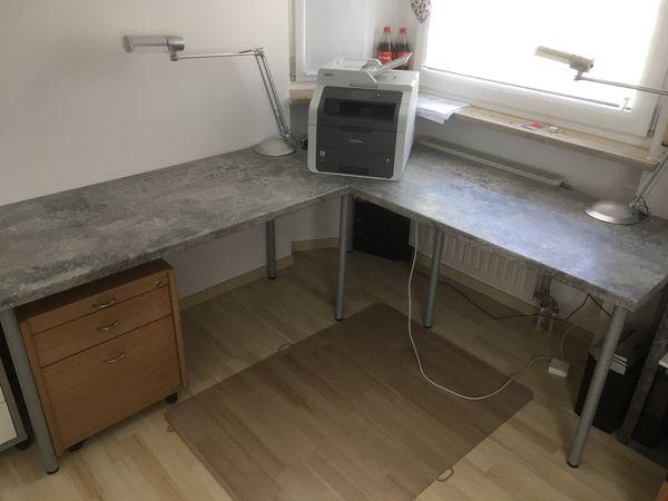 Großer Schreibtisch Beton Optik selfmade