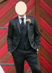 Anzug - Wilvorst - Hochzeitsanzug - blau - schwarz -
