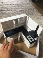 Küche Holz puppenhaus 1 12
