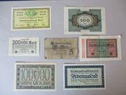 Alte Geldscheine
