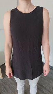 Damen Longshirt Bluse schwarz Gr