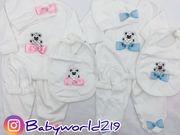 Jungen Babystrampler Teddybär Taufanzug Lohusa