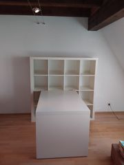 Gebrauchtes weißes Kallax Regal 4x4