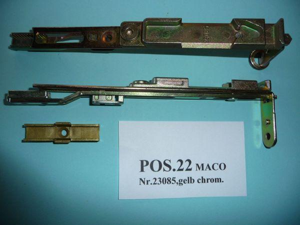MACO-Endstück für Stulpflügel unten 23085