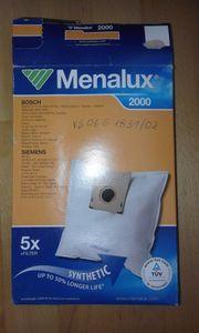 Neue unbenutzte Staubsaugerfiltertüten Menalux 2000