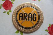 ARAG Blechschild Plakette Emaille Durchmesser
