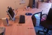 Zweiteiliger Schreibtisch