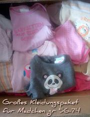 Großes Kleidungspaket für kleine Mädchen