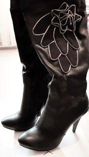 Ausgefallene Overknee Stiefel