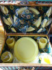 Picknickkorb für 4 Personen - Weidenkorb