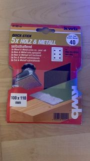 KWB Quick-Stick Schleifstreifen Holz Metall