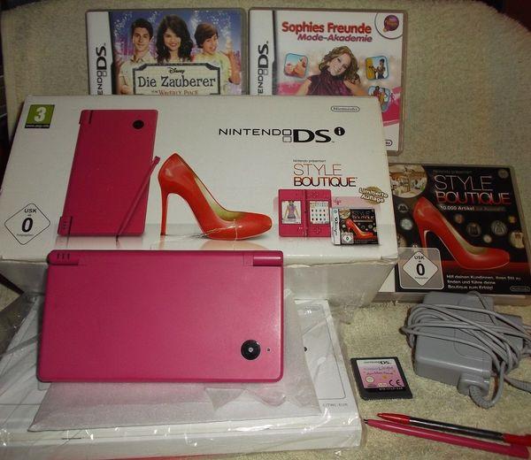 Nintendo DSi Original Konsole PINK Style Boutique- OVP! ! &Zubehör&4xSpiele