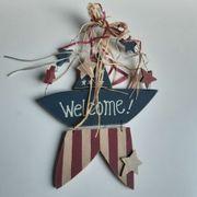 Welcome Star Willkommen - 40cm hoch -