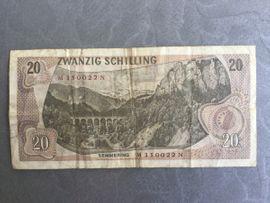 Münzen - 20 Schilling Banknote Carl Ritter