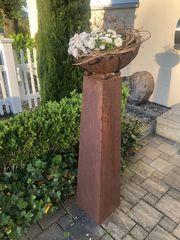 2 Pflanzsäulen Schalen