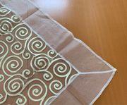 Tischdecke cremefarben transparent