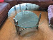 Schöner Glas-Wohnzimmertisch Couchtisch Durchmesser 100
