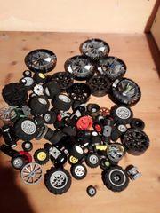 Lego Rädern verschiedene Größen Bauarten
