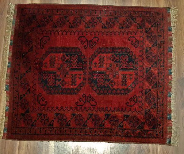 Ersari Orientteppich Teppich mystisch Rot