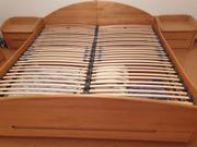 Doppelbett Massivholz mit Lattenrösten Bettkasten