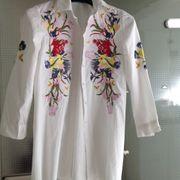 Bluse Hemd mit Stickerei