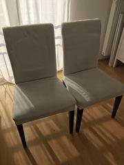 2 IKEA-Esszimmerstühle Henriksdal weiß