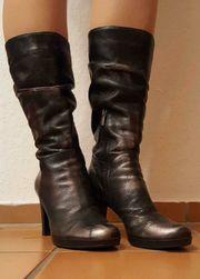 Neuwertige italienische Damenstiefel Stiefel Gr