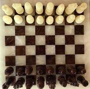 Schach aus Alabaster - Brett Figuren