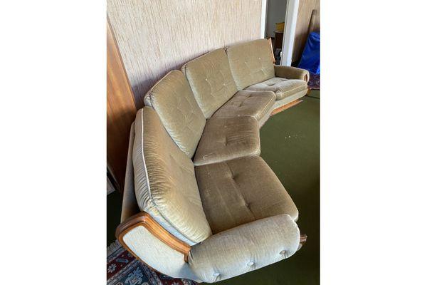 Vintage Sofa Sessel Sofagarnitur Wohnzimmer