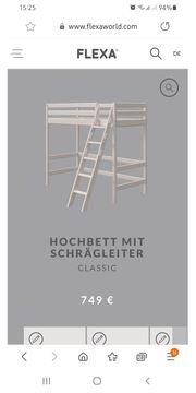 Flexa Hochbett Kiefer natur 90x200cm