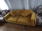 Sofa Couch 2 Sessel Fernsehsessel