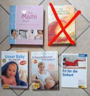 Diverse Bücher zu Schwangerschaft Geburt