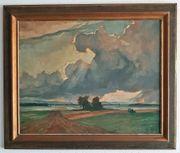 Wilhelm Wickertsheimer Ölgemälde Abendwolken Schutterwald