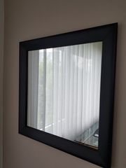 Alu Spiegel in schwarz