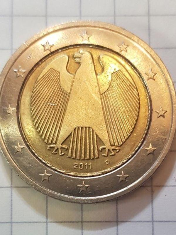 2 münze fehlprägung sammler münze