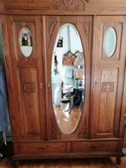 Antiker Kleiderschrank Spiegelschrank Jugendstil um