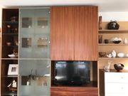 Wohnzimmerschrank Schrankwand aus massiven Zwetschgenholz