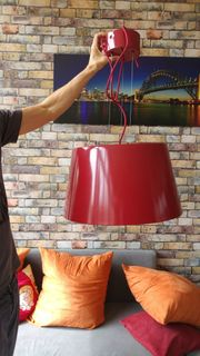 Ikea Lampe rot zu verkaufen