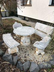 Gartensitzgruppe Stein