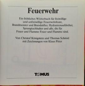 Comics, Science fiction, Fantasy, Abenteuer, Krimis, Western - Lustiges Fröhliches Wörterbuch Feuerwehr - Tomus