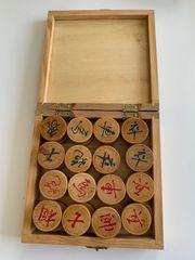 Chinesisches Schach in einer Holzbox