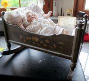Puppenwiege rustikal aus Holz Handarbeit