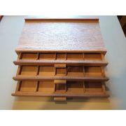 4tlg Holzkasten feines Holz Künstlerbedarf