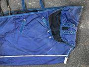 Wasserdichte blaue Pferdedecke 155cm zu