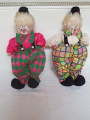 Clownpuppen Clownpaar 40 cm hoch