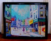 4 x Gemälde Ölgemälde Paris