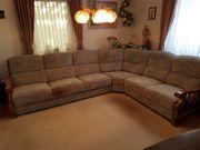 Wohnzimmer komplett Ecksofa Couchtisch Sessel